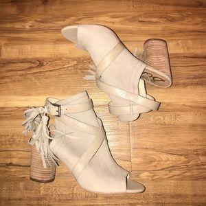 5d30ee699b8ff8 Sam Edelman Shoes - Sam Edelman Vermont PeepToe LeatherTassel Bootie